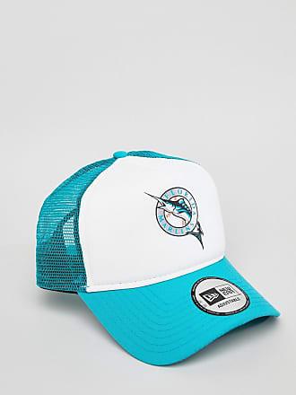 17e7e83095c8 New Era Coast to Coast Florida Marlins Trucker Cap - White