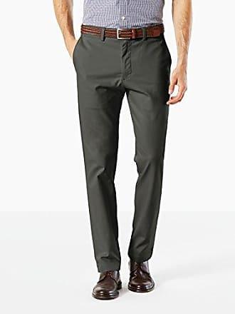 Dockers Mens Slim Tapered Fit Clean Khaki Pants, Steelhead, 38W x 30L