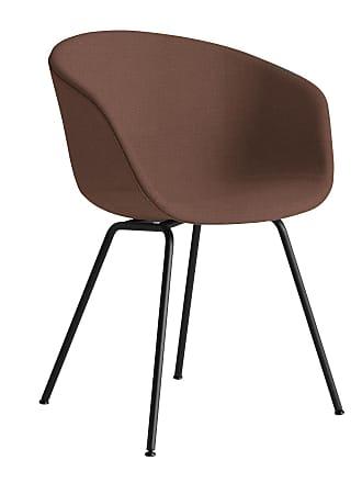 HAY About a Chair AAC 27 Armlehnstuhl Gestell schwarz - braun/Stoff Steelcut 365/Gestell Stahl schwarz pulverbeschichtet/mit Kunststoffgleitern