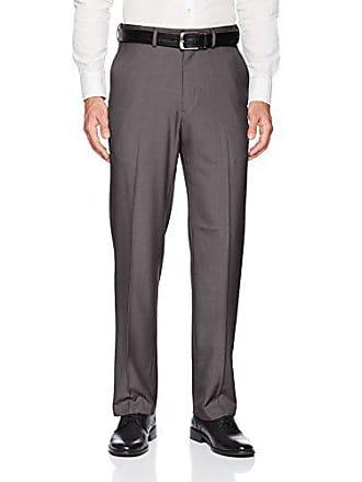 Haggar Mens Big and Tall Big & Tall Premium Comfort Classic Fit Flat Front Pant, Medium Grey, 48Wx32L