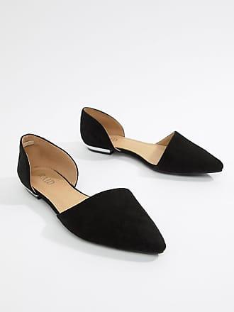 30823741ec75 Raid Amy black two part flat shoes - Black