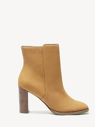0d504da1cdd Sole Society Womens Micah Stacked Heels Bootie Camel Size 10 Leather From Sole  Society