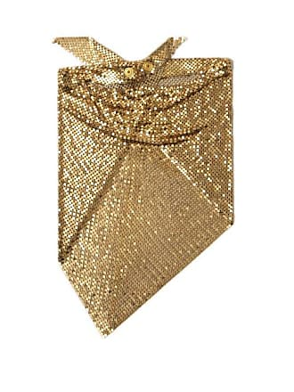 Paco Rabanne Chainmail Mesh Triangle Scarf - Womens - Gold