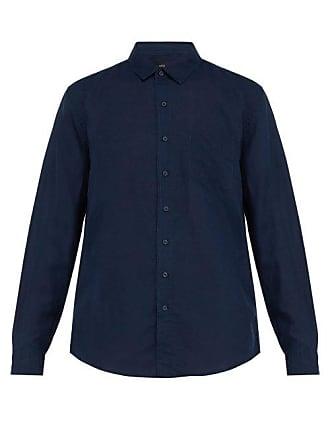 Onia Abe Linen Shirt - Mens - Navy