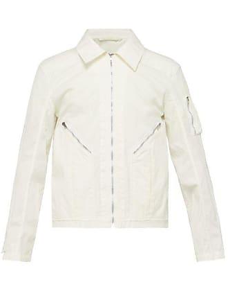 Helmut Lang Zipped Pocket Cotton Jacket - Mens - White