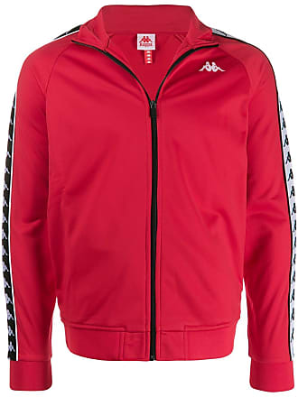 Kappa logo tape detail sport jacket - Red