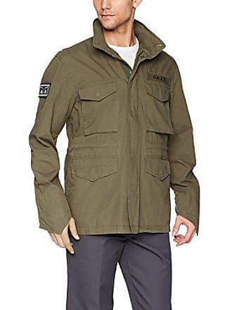 Obey Mens Iggy M65 Military Jacket, Army, M