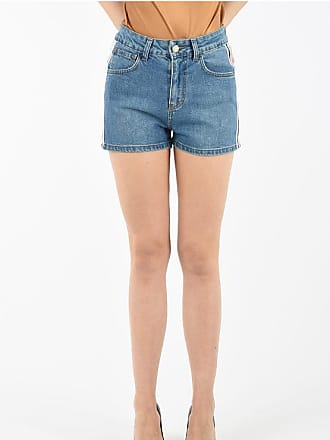GCDS Denim Shorts with Printed Logo Side Band size S