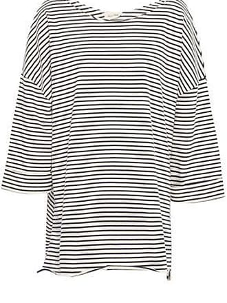 American Vintage American Vintage Woman Striped Cotton-jersey Tunic Ecru Size ONESIZE