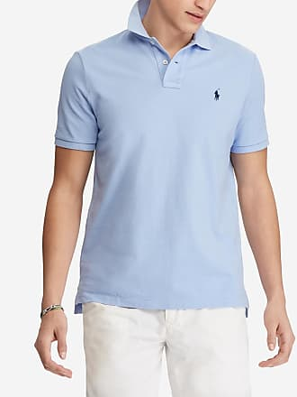 Polo Ralph Lauren Polo à manches courtes custom slim fit Bleu Polo Ralph  Lauren be16e6d3ae9