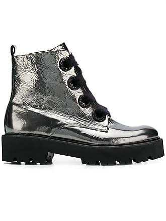 Kennel & Schmenger Ankle boot metálica de couro - Prateado