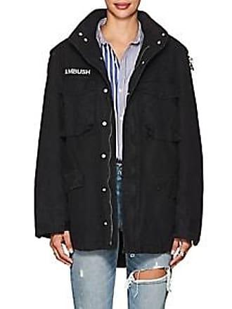 AMBUSH Womens Holy Places Cotton Canvas Field Jacket - Black Size 1 JP