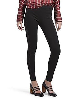 9958462d585c8 Hue Womens Ponte Leggings, Assorted, Black - Leatherette Trim XL