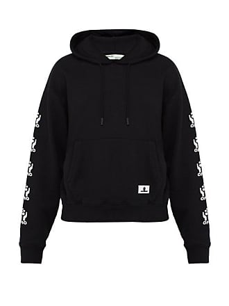 654a70515c4 Off-white Off-white - Hands Logo Print Cotton Hooded Sweatshirt - Mens -