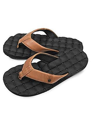 722255cf2 Volcom Mens Recliner Leather Flip Flop Sandal