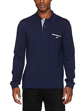 a24871158c1 Lacoste PH0118 Polo Homme Bleu (Marine Blanc-Marine R20) Medium (Taille