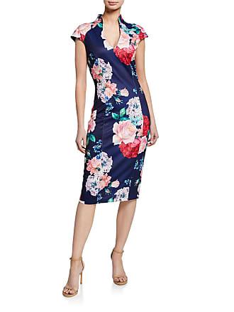 Alexia Admor Stand-Up Collar Scuba Midi Sheath Dress