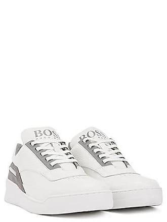 c331dbebbfb BOSS Sneakers van gemengde leersoorten met logo op de tong