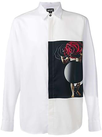 Just Cavalli Camisa com patch - Branco