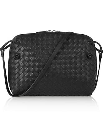 3b6ab9b545 Bottega Veneta Nodini Small Intrecciato Leather Shoulder Bag - Black
