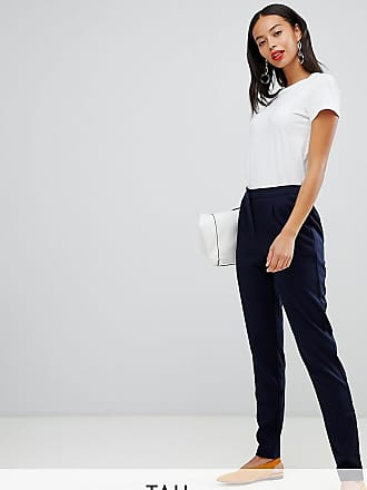 Y.A.S. Tall tailored trouser with elasticated waist-Navy