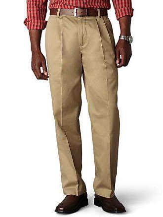 Dockers Mens Classic Fit Signature Khaki Pants-Pleated D3, Dark (Cotton)-Discontinued, 32W x 30L
