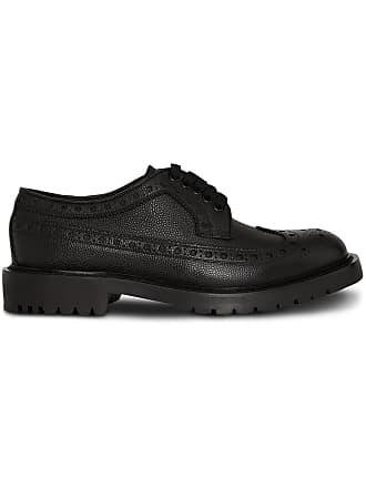 a7fb19928762 Burberry Brogue Detail Grainy Leather Derby Shoes - Black