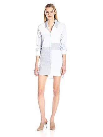 ea4881f2b6d French Connection Womens City Stripe Dress, Meru Blue/Summer White, 2