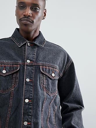 af1209ec0256f Vestes En Jean pour Hommes en Noir − Maintenant   jusqu à −70 ...