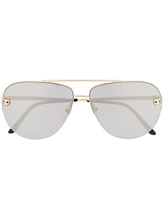 4aa9ff4a97b Cartier Óculos de sol Panthère de Cartier - Dourado