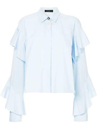 Ellery Camisa com franzido nas mangas - Azul