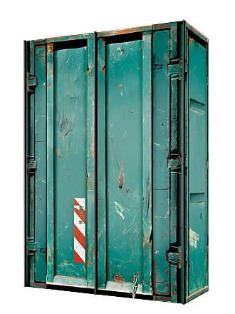 Express Möbel Schwebetürenschrank Cargo Türkisgrün 150x216x68 cm (BxHxT) 2-türig Spanplatte