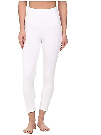 bed9f47cea7 Yummie Tummie Gloria Skimmer Cotton Shaping Legging (White) Womens Casual  Pants