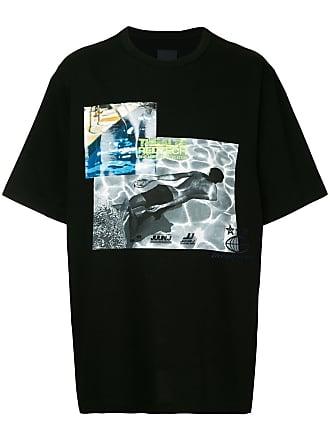Juun.J Thealte Redtech printed T-shirt - Preto
