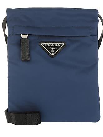5cc0f187ed900 Prada Technial Fabric Shoulder Bag Royal Umhängetasche marine