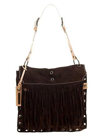 65adaa294d51bf 1stdibs Dolce And Gabbana Dark Brown Suede Eyelet Fringe Shoulder Bag