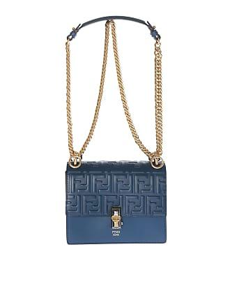 Fendi Kan I blue leather crossbody bag