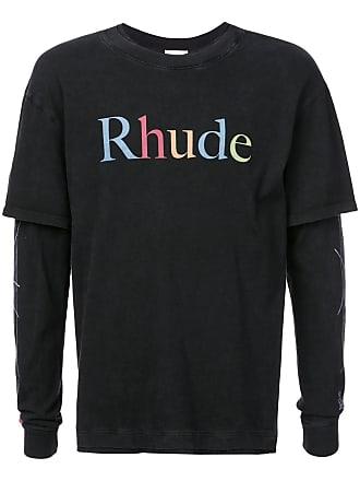 Rhude Camiseta com estampa de logo - Preto