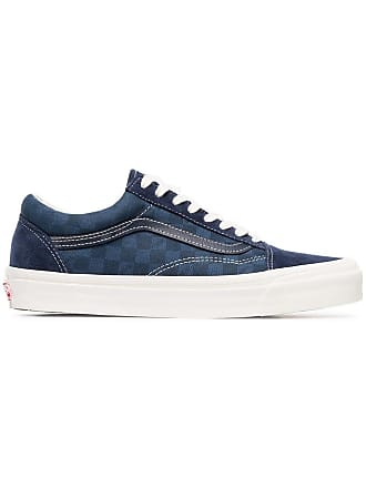 e6e950d03c Vans blue OG Old Skool suede check cotton sneakers