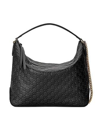 1eb2d9560 Gucci Gucci Signature large hobo bag - Black