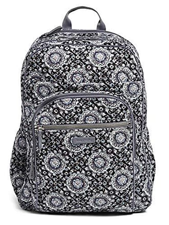Vera Bradley Iconic XL Campus Backpack, Signature Cotton, Charcoal Medallion