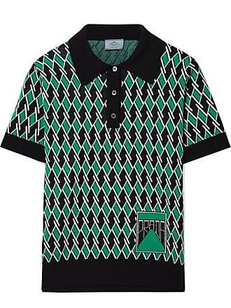 a9dbaddb62e1 Prada Wool-jacquard Polo Shirt - Green