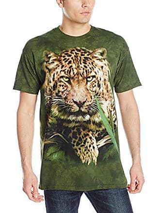 The Mountain Majestic Leopard Adult T-Shirt, Green, 4XL