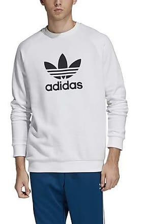 online store 4b6c7 8e51b adidas adidas Originals Mens Trefoil Warm-Up Crew, White, MM