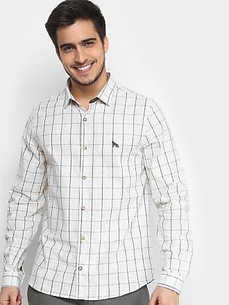 Acostamento Camisa Xadrez Acostamento Manga Longa Masculina - Masculino bbee16ad91