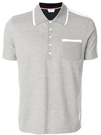 Thom Browne Grey Bicolor Half-And-Half Jersey Polo - The Webster