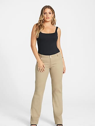 Alloy Apparel Tall Skinny Twill Bootcut Plus Size Pants for Women Khaki 15/35 - Cotton