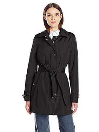 eb4f091a8cba Calvin Klein Womens Single Breasted Soft Shell Trench Coat with Epiplets