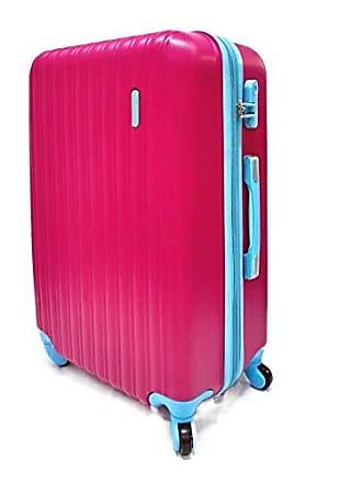 Yin's Mala de Viagem Grande ABS, Carrinho 360, Expansível, Rosa e Azul, YS2019ROA-G