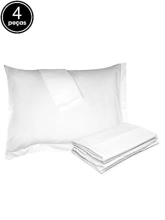 Buddemeyer Jogo de Cama 4Pçs Casal Buddemeyer Basic Premium Branco